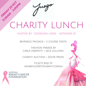 OLE FUEGO CHARITY LUNCH | NATIONAL BREAST CANCER FOUNDATION